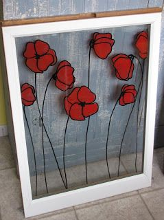 **I actually did this today on an old six pane window! ** -Krista