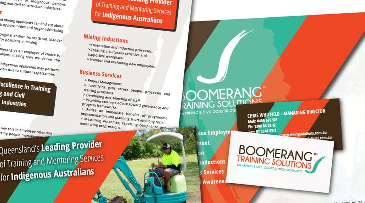 Boomerang Training Solutions - Collaterals Created: Identity, Graphic Design, , Pullup Banner, Website, Social Media Strategy, Google + Page, Twitter Profile, Facebook Page, Presentation Folders, Business Cards, Letterheads, Brochures, Enewsletter Templates, Motion Logo