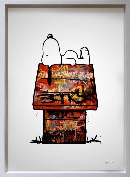 Kenny Random: Peanuts, Kenny Random, Graffiti, Street Art, Illustration, Snoopy, Charlie Brown, Streetart