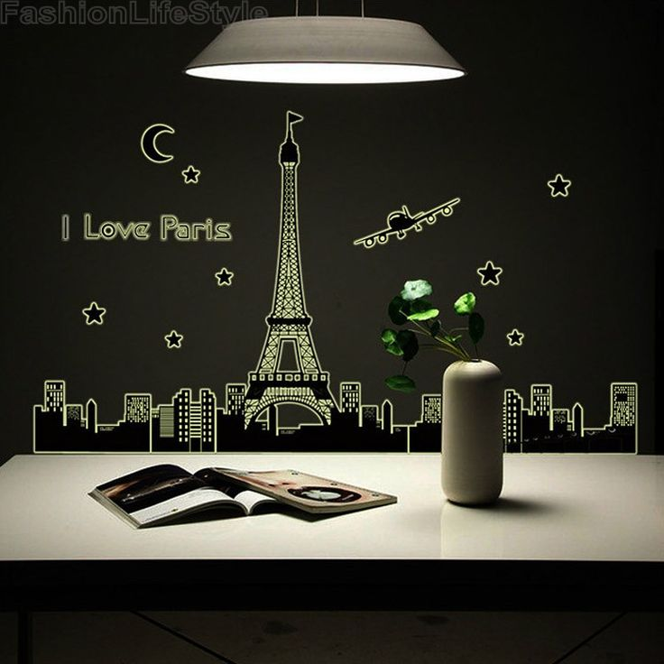 Home Decor Pairs In The Dark Luminous Fluorescent PVC Wall Stickers High Quality 12