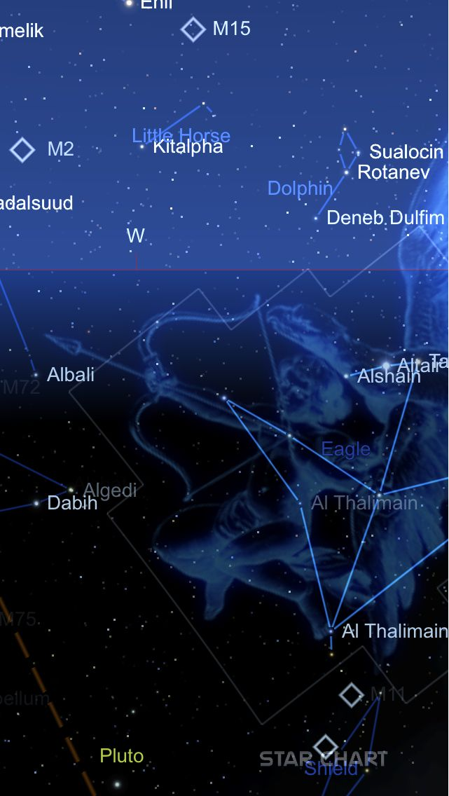 An image of Theta Aquilae, created using Star Chart. www.starchart.info
