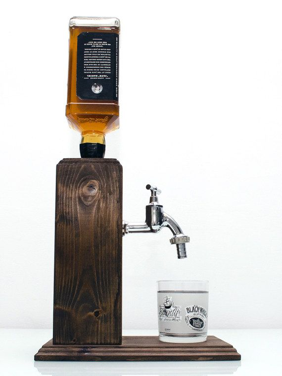 Handmade Wooden Liquor Dispenser Alcohol By