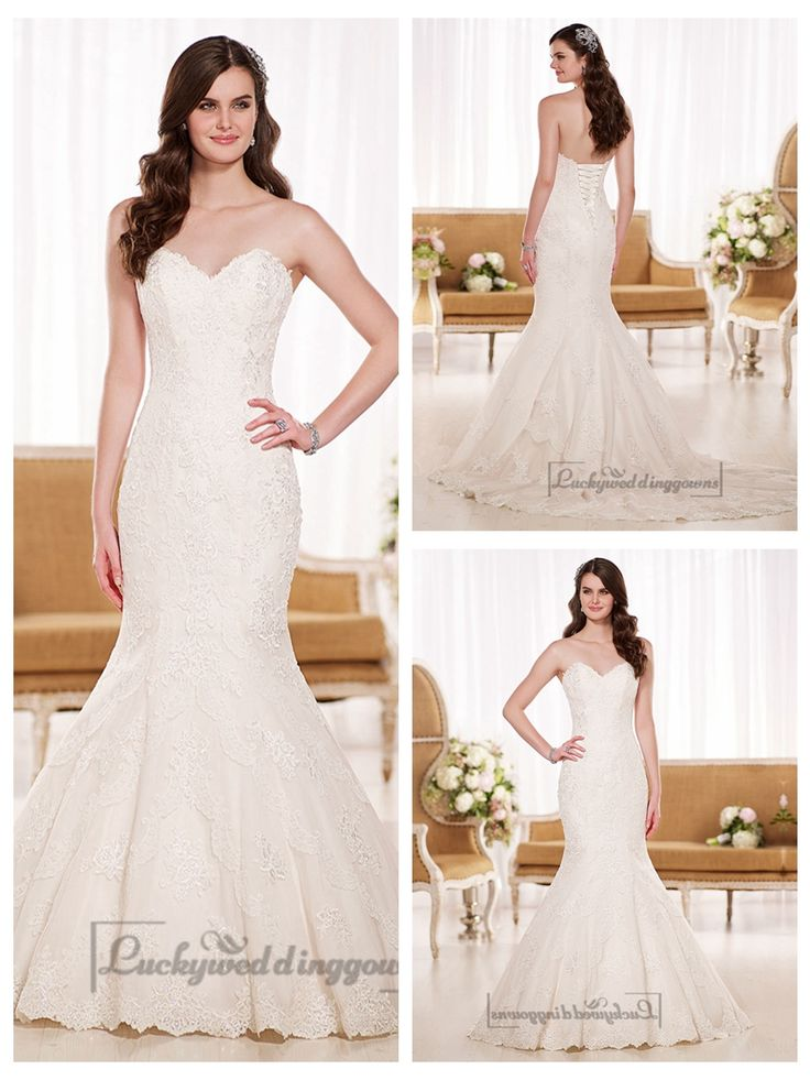 Stunning Strapless Sweetheart Fit and Flare Lace Wedding Dresses http://www.ckdress.com/stunning-strapless-sweetheart-fit-and-flare-  lace-wedding-dresses-p-2046.html  #wedding #dresses #dress #lightindream #lightindreaming #wed #clothing   #gown #weddingdresses #dressesonline #dressonline #bride