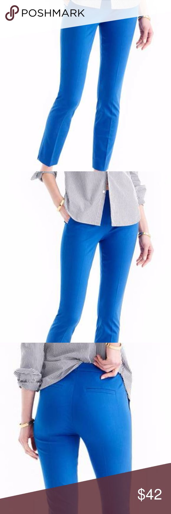 J. Crew Blue Trouser Dress Pants 8 Great used condition. Worn twice. Zip in the front. J. Crew Pants Straight Leg