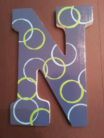 painted wooden letter n decorated wooden letters pinterest