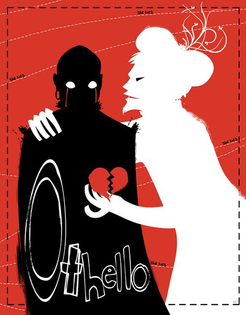 This perfectly shows the jealousy pulling at poor Othello's heart. He's a good man
