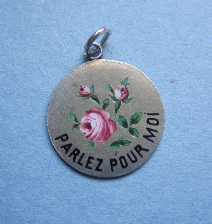 46 best charms rebus images on pinterest charm bracelets antique victorian enamel rebus french flower charm pendant pendant mozeypictures Image collections