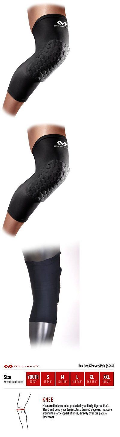 Protective Gear 158969: Mcdavid 6446 Extended Compression Leg Sleeve With Hexpad Protective Pad (Blac... BUY IT NOW ONLY: $43.56