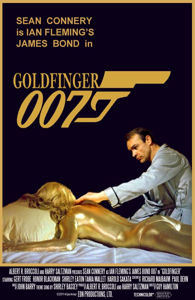 Sean Connery is James Bond in Godfinger. Artwork by jackiejr.  #jamesbond #007