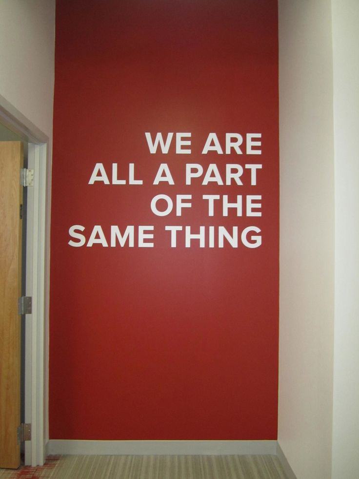 inspiration for one wall with our mission statement to give every woman then means to art for the office wall