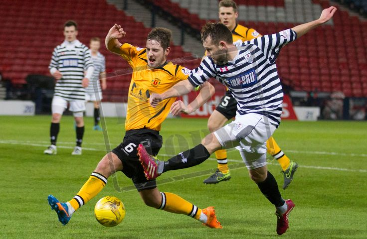 Annan Athletic's Steven Black blocks the ball during the SPFL League Two game between Queen's Park and Annan Athletic.
