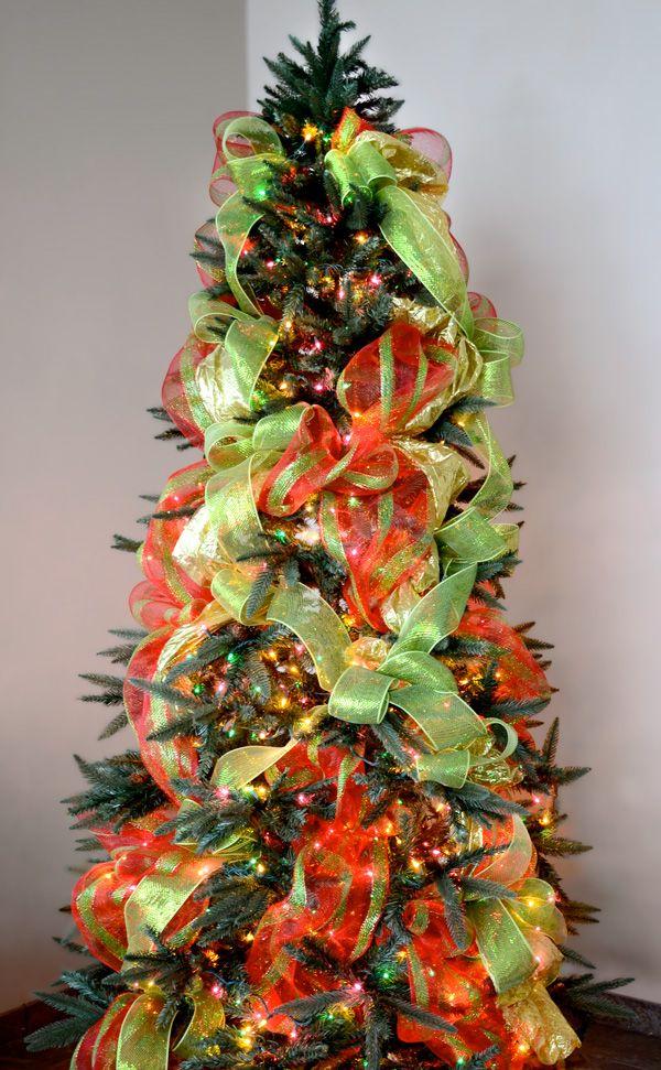 Christmas Tree Decorating with Deco Mesh: A Video Tutorial | Jingle Bells |  Pinterest | Christmas tree decorations, Christmas and Christmas Tree - Christmas Tree Decorating With Deco Mesh: A Video Tutorial Jingle
