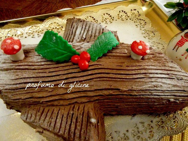 Tronchetto di Natale al torrone e nocciole - ricetta passo passo