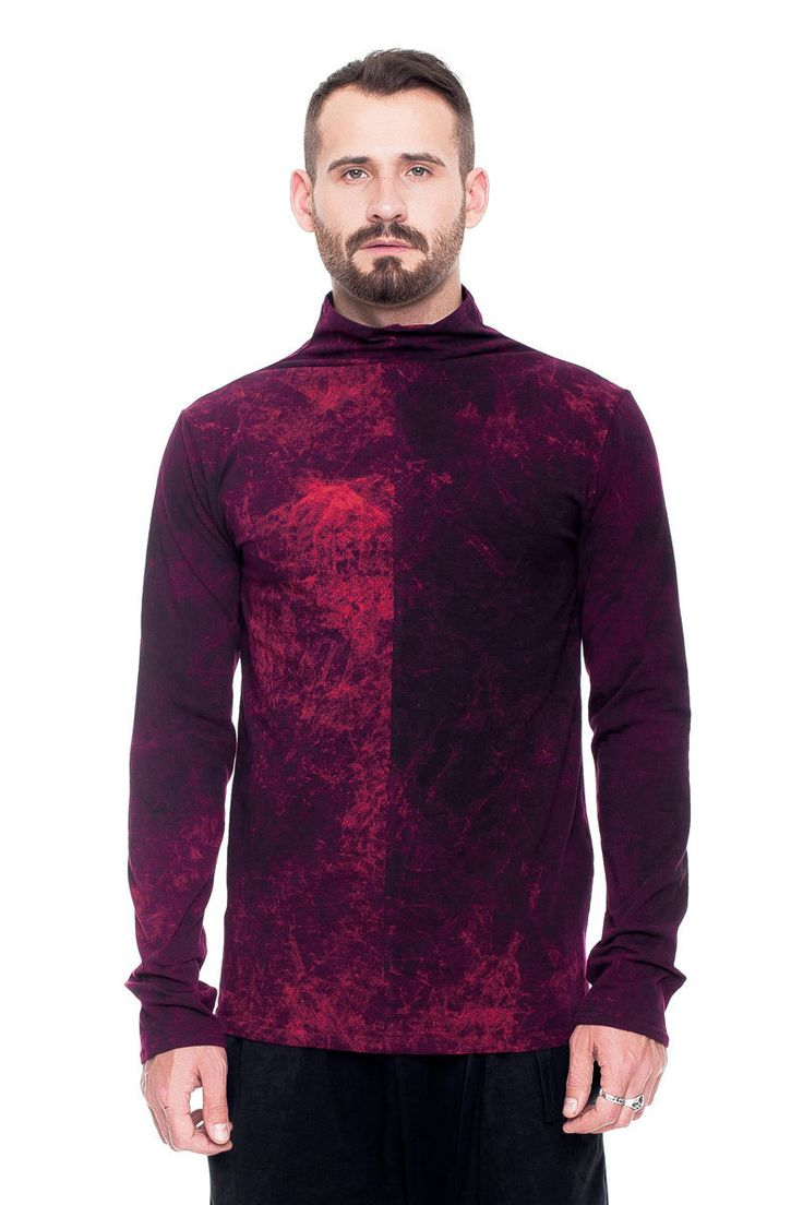 T-shirt with collar, burgundy acid wash    #mariashi #fashion #russiandesigners #nofilter #outfit #outfitoftheday #outfits #outfitpost #clothes #fashionista #fashiondesigner #shopping