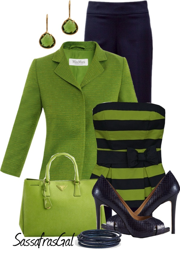 """Lime & Navy"" by sassafrasgal on Polyvore"