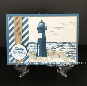 This birthday card features the Stampin' Up! High Tide stamp set available from my online store: http://www3.stampinup.com/ECWeb/default.aspx?dbwsdemoid=4011749  #angelaspaperarts  #stampinup  #2017Occasions