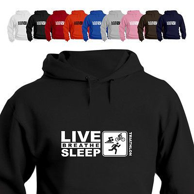 #Triathlon gift hoodie hooded top eat live #breathe sleep #triathlon,  View more on the LINK: 	http://www.zeppy.io/product/gb/2/322384878192/