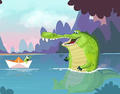 """Check out new work on my @Behance portfolio: """"Croc and Paperboat"""" http://on.be.net/1EsWobV"""