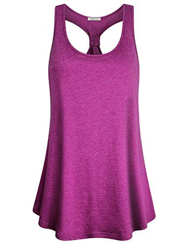 5d63e5b298f SeSe Code Workout Tank Tops For Women, Ladies Yoga Wear Basic Cozy Tunic  Comfy Stretchy Jersey Sleeveless Curved Hem Loose Fit Workout Exercise  Outfits Body ...