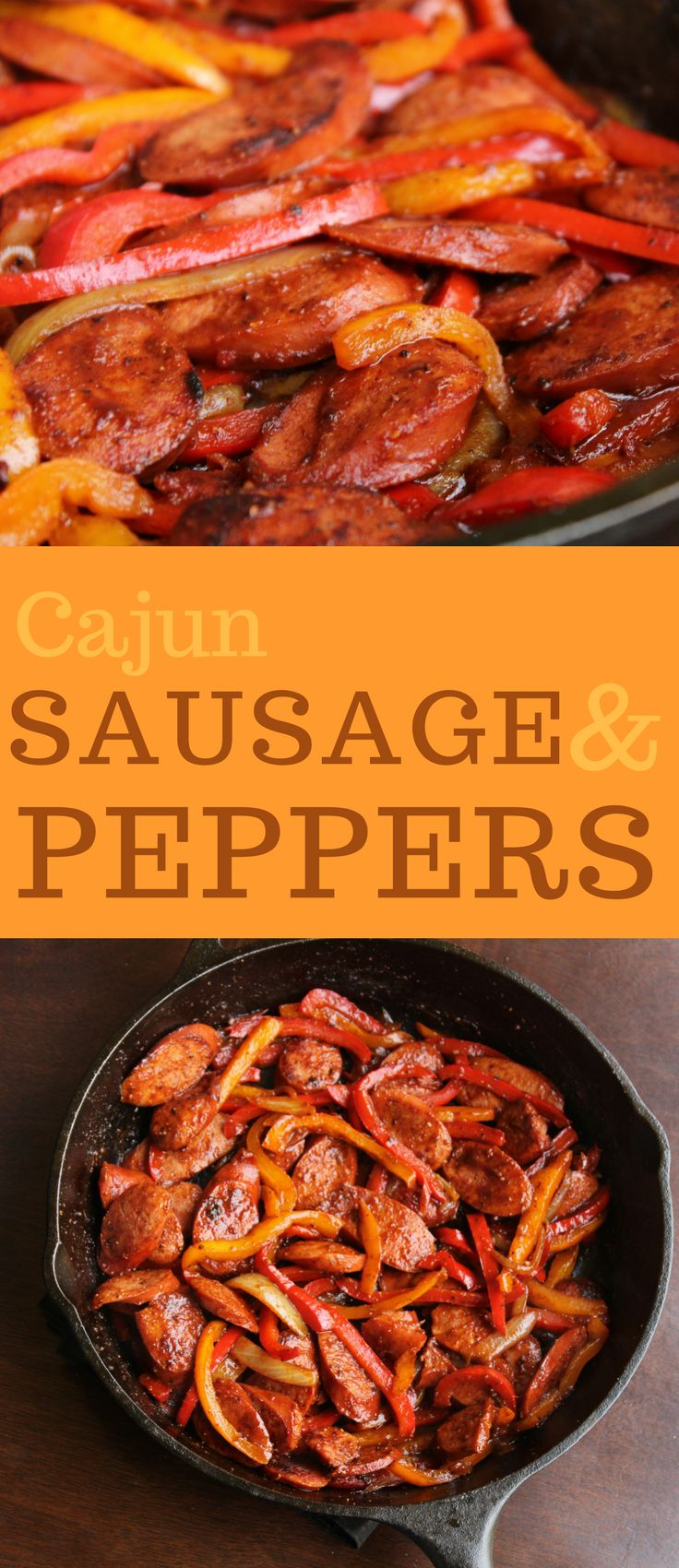 Cajun Sausage and Peppers. Smoked sausage, peppers, onions, Cajun seasoning make a great meal to serve for dinner any weeknight.