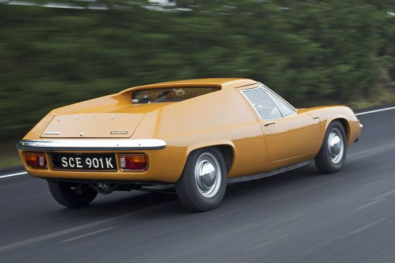 Lotus Europa S2 - on factory steels and dog dish caps. Brilliant.