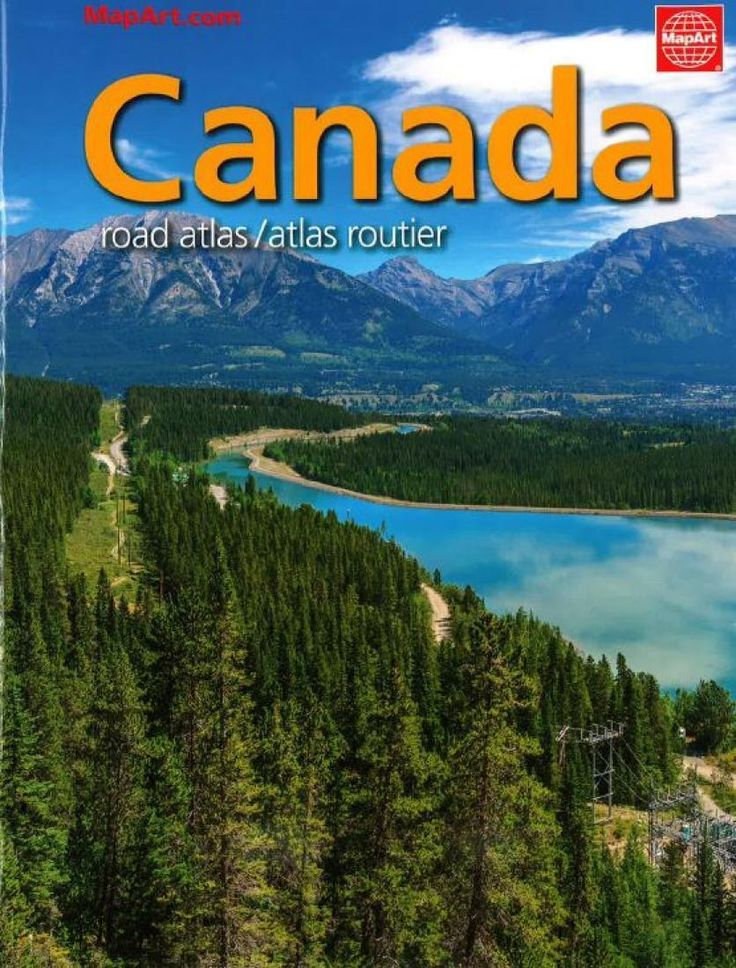 Canada Road Atlas FrenchEnglish edition by MapArt