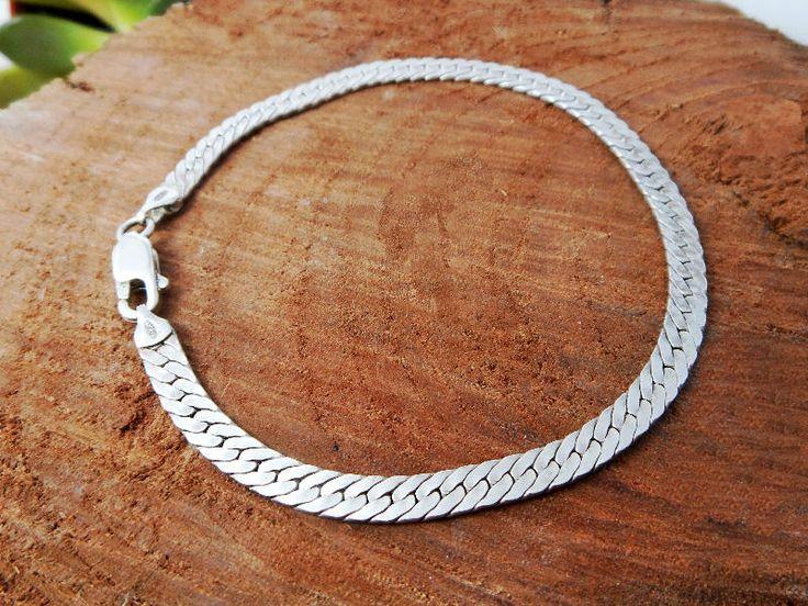 Cool Men Handcraft Flat Snake Bracelet,Flat Snake Chain,Snake Bracelet,Silver Snake Bracelet,Men Bracelet,Personalized Gifts,Gifts For Him by Supsilver on Etsy