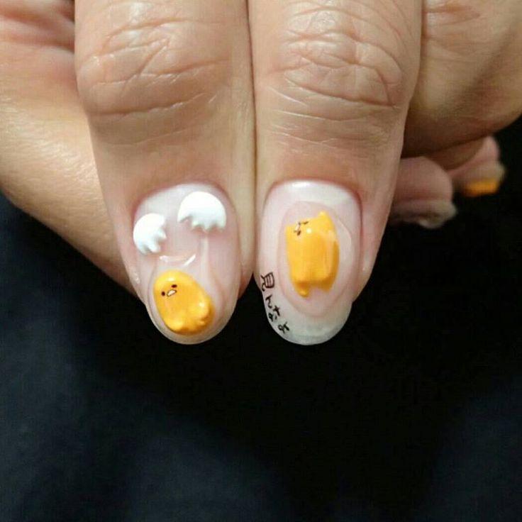 Gudetama nails                                                                                                                                                     More