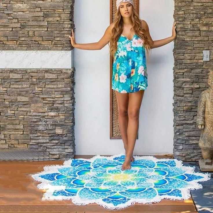 New Arrival Indian Mandala Blue Lotus Tapestry/Yoga mat/Beach Blanket    $20 US  Hello! Welcome to our store! We strive to bring you the best Quality with best service. All items are 100% Brand New !