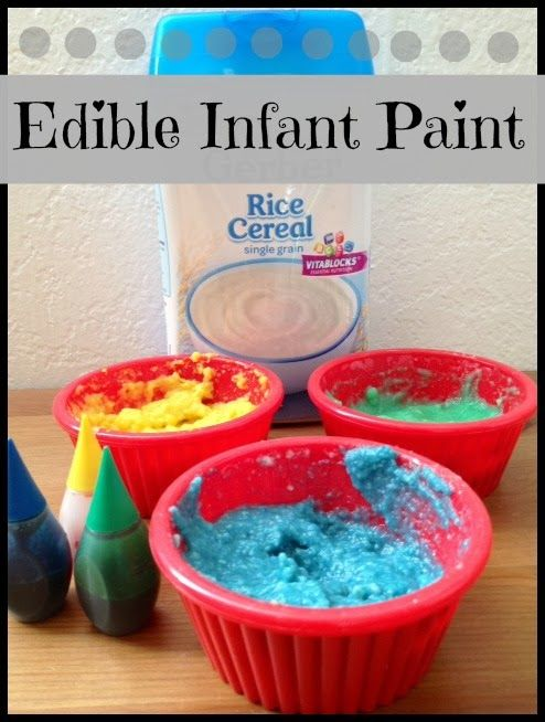 Munchkins and Moms: Edible Infant Paint