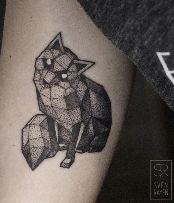 47 mejores im genes de fox dotwork tattoo en pinterest tatuajes de zorro ideas de tatuajes y - Tatouage 3 points en triangle ...