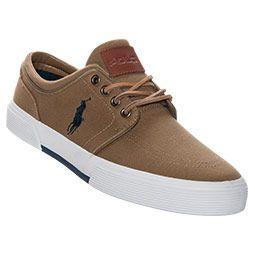For my man <3.<3    Men's Polo Ralph Lauren Faxon Low Casual Shoes| FinishLine.com | Tan
