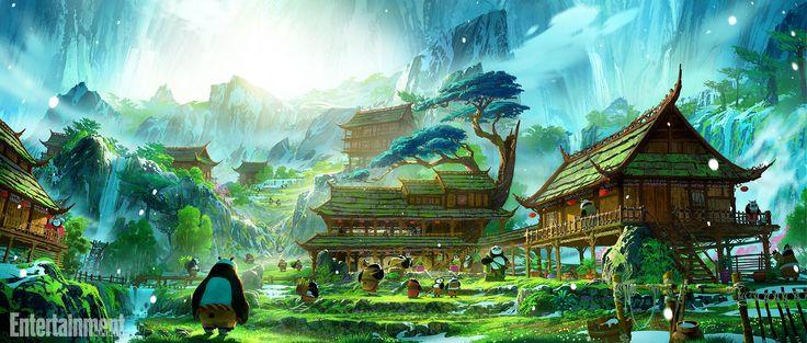 Le site Entertainment Weekly a eu l'exclusivité de cinq nouveaux concept art pour Kung Fu Panda 3 qui confirment la relation père/fils.
