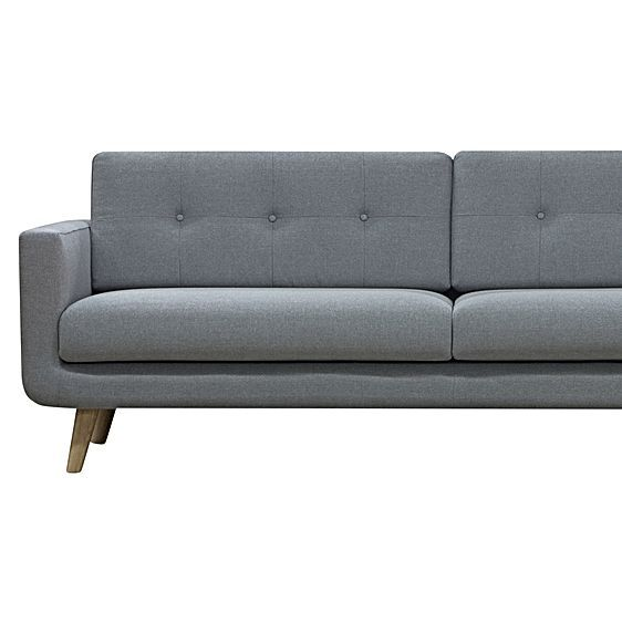 Larsen Light Grey 3 Seater Sofa by Zanui