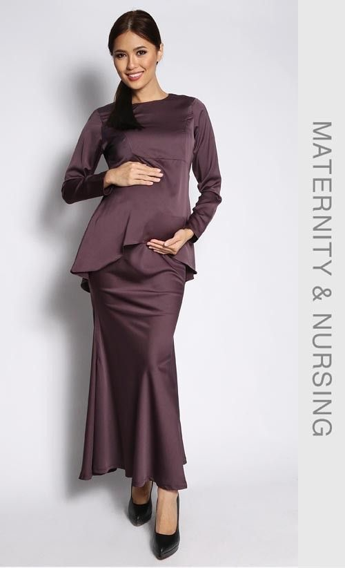Fishtail Kurung in Seal Brown