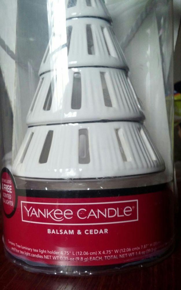Yankee Candle Tree Shape Tea Llight Warmer Balsam and Cedar  #YankeeCandle