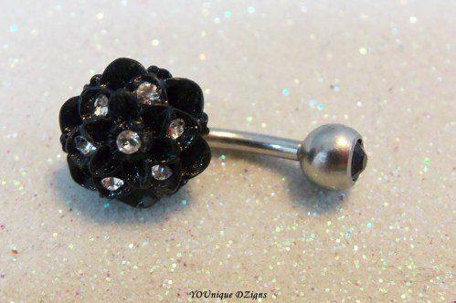 #YOUniqueDZignsArtfire on Artfire                   #ring                     #Cute #bellybutton #ring #with #12mm #black #chrysanthemum #flower #gauge     Cute bellybutton ring with 12mm black chrysanthemum flower 14 gauge                                     http://www.seapai.com/product.aspx?PID=680501