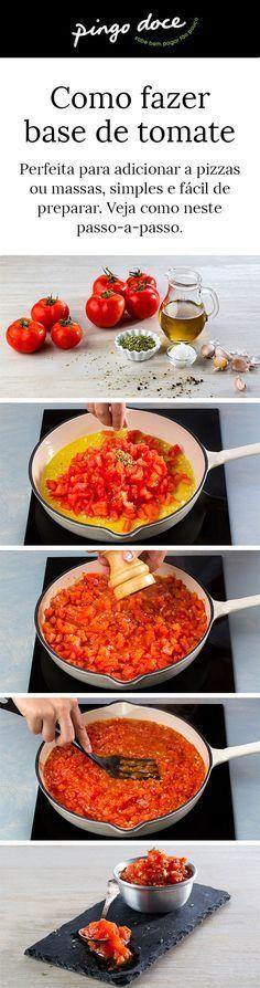 Simples e fácil de preparar, basta escolher tomate maduro e deixar apurar junto dos outros ingredientes.