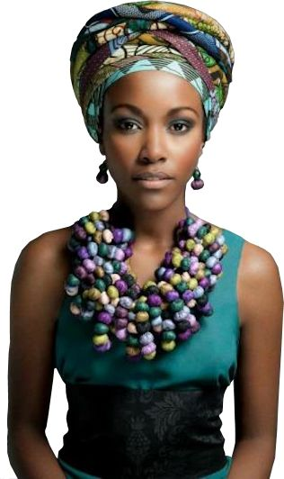Afrikaanse met tulband