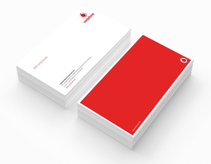 Branded corporate stationery for Vodafone by Design Eleven.