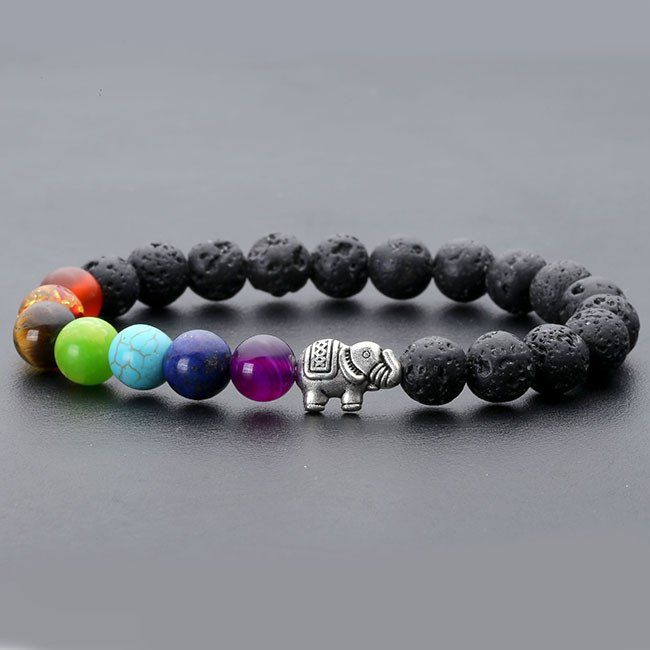 Lava stone is considered a stone of protection, strength, and fertility. It can provide stability in times of change. It helps to dissipate anger and provides guidance and understanding. This beautifu
