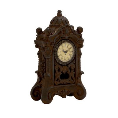 Woodland Imports Ceramic Table Clock Color: