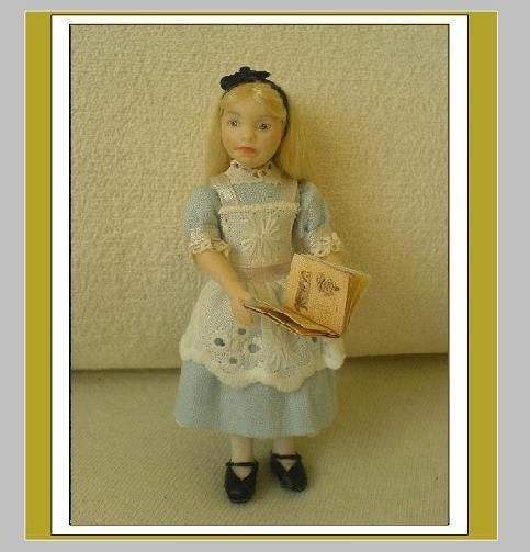 1:12 scale Doll, Alice. Made by Christa's Doll's.