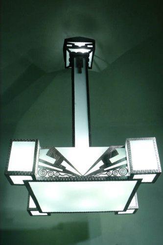 Art deco modernist chandelier