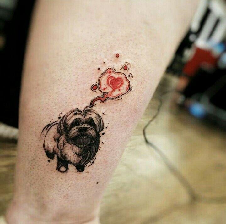 Resultado de imagem para tattoo pequenas dog