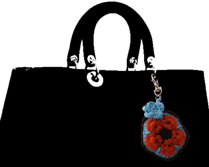 Padded African Flower charm for handbags, purse, planners, keychains etc by AcquiredEleganceNZ on Etsy