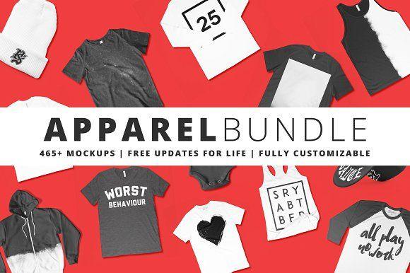 465+ Apparel Mockups Bundle by Pixel Sauce on @creativemarket