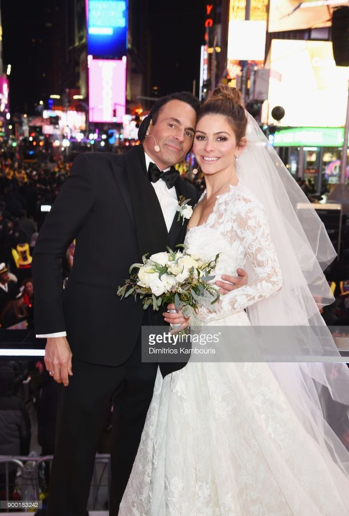 wedding ceremony new york city%0A     wedding ceremony during Maria Menounos and Steve Harvey Live from Times  Square at Marriott Marquis Times Square on December          in New York  City