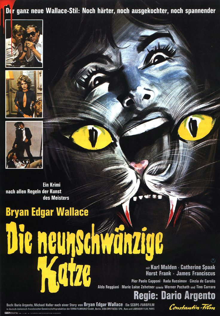Another German Argento poster, for Cat O' Nine Tails, masquerading as an Edgar Wallace adaptation, as these were popular in Germany.