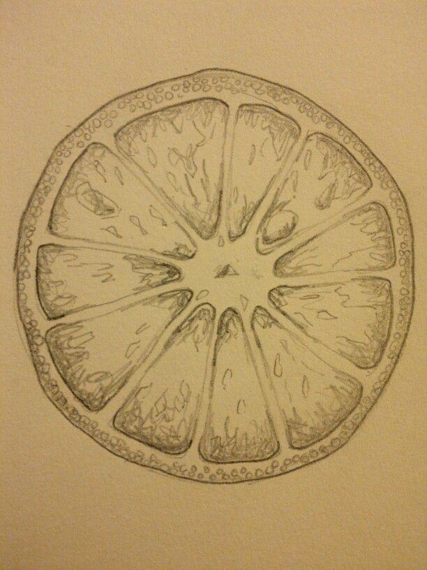 sketch 2 of half orange printmaking pinterest orange